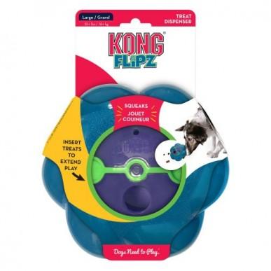 קונג פליפז - צעצוע האכלה מצפצף לכלב M/L