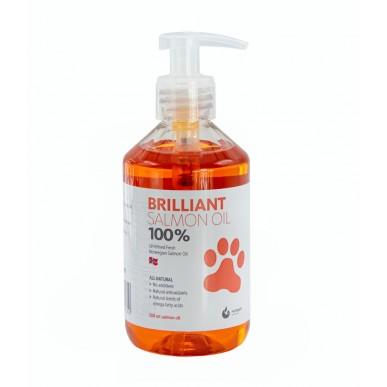 """Brilliant - שמן סלמון לכלבים וחתולים 100% טהור 300 מ""""ל"""