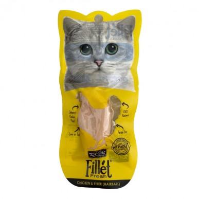 Kit Kat - מעדן לחתול פילה עוף וסיבים (מאט היווצרות כדורי פרווה)