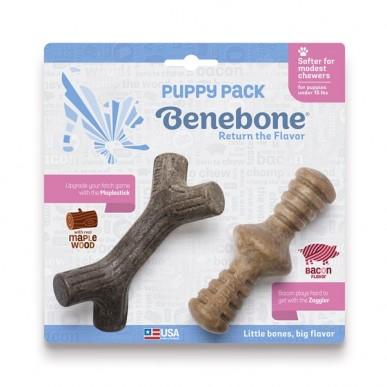 בנבון - סט עצמות דנטליות לגורים וכלבים קטנים בטעמי בייקון ומייפל