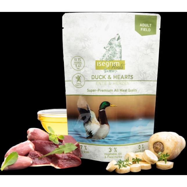 Isegrim Roots - ברווז לבבות עוף וירקות 410 גרם