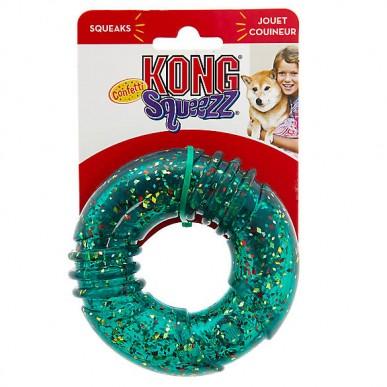משחק לכלב טבעת סיליקון מצפצפת - M/L
