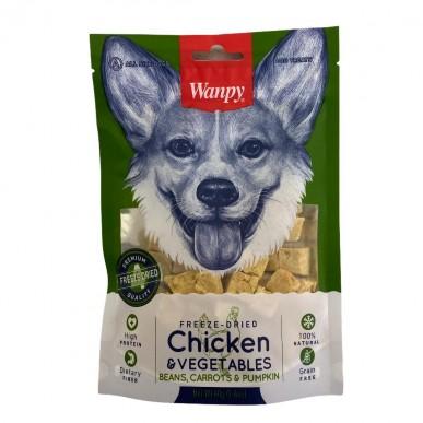 Wanpy -קוביות עוף וירקות מיובשים בהקפאה 100% טבעיים