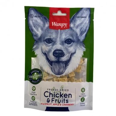 Wanpy - חטיף לכלב קוביות עוף ופירות מיובשים בהקפאה 100% טבעי