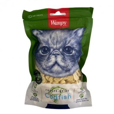 Wanpy - חטיף לחתול קוביות דג קוד מיובש בהקפאה 100% טבעי