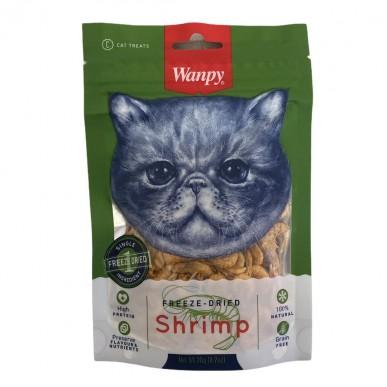 Wanpy - חטיף לחתולים בייבי שרימפס מיובש בהקפאה 100% טבעי