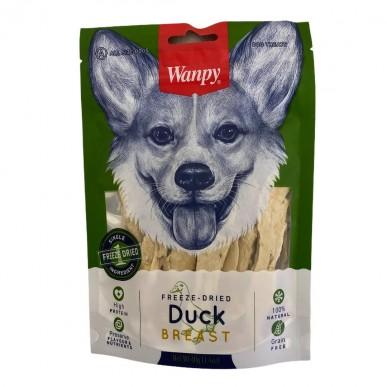 Wanpy - חטיף לכלב רצועות חזה ברווז מיובש בהקפאה 100% טבעי